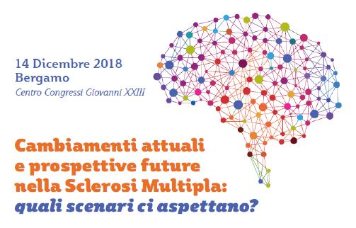 """Locandina Congresso """"Cambiamenti attuali e prospettive future nella Sclerosi Multipla"""", Bergamo"""